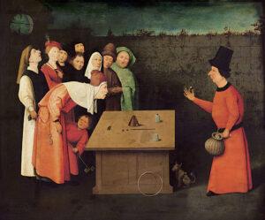 Hieronymus Bosch: The Conjurer, 1475–1480.
