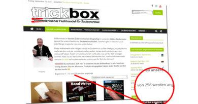 Schon mehr als 250 Produkte im Onlineshop!